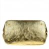 Duża torba pikowana złota XL skóra naturalna