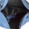 Lekki zamszowy worek z podszewką dżins