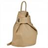 Zgrabny beżowy plecak skórzany damski VERA PELLE.