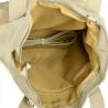Duża torba skóra zamszowa popielata włoska XL