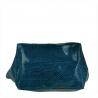 Niebieska dżinsowa torebka shopper skórzana z połyskiem XL