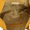 Bardzo duża torebka skórzana musztarda shopper bag- XXL