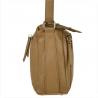 Modna skórzana torebka beżowa VEZZE w rozmiarze L