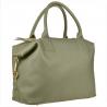 Bardzo duża torebka skórzana szara shopper bag- XXL