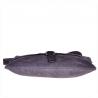 Nowy wzór zamszowa torebka listonoszka duża szara L