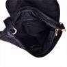Nowy wzór zamszowa torebka listonoszka duża czarna L
