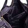 Pojemna torebka skórzana czarna L