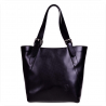 Torebka skórzana shopper XLczarna GENUINE LEATHER