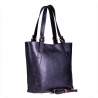 Torebka skórzana shopper XL grafit  GENUINE LEATHER