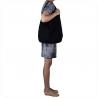 Torebka skórzana shopper czarna worek
