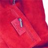 Torebka skórzana shopper czerwona worek