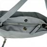 Duża skórzana torebka na ramię XL popielata