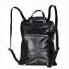 Plecak czarny skórzany-A4