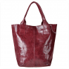 Torebka shopper bordowa XL