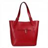 Torebka skórzana shopper XL czerwona Genuine Leather