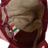 Bordowa torebka shopper skórzana z połyskiem XL