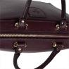 Elegancka torebka skórzana kuferek bordo