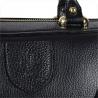Elegancka skórzanna torebka kuferek czarna
