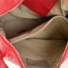 Pojemna torebka skórzana czerwona rozmiar L