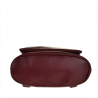 Damski plecak skórzany bordowy A4