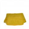 Torba worek z miękkiej skóry bardzo lekka XL żółta /krokodylek/