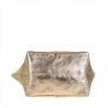 Torba worek w kolorze złotym ze skóry naturalnej XL