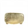 Zgrabny plecak skórzany złoty lekki
