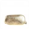 Torebka skórzana złota z łańcuszkiem rozmiar M