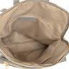 Plecak skórzany popielaty A4 lekki