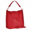 Torebka skórzana shopper bag czerwona XL