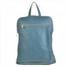 Plecak skórzany damski niebieski dżins