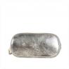 Torebka skórzana srebrna z łańcuszkiem rozmiar M