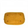 Torebka zamszowa żółty musztardowy