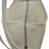 Zgrabny plecak skórzany popielaty lekki