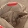 Plecak skórzany czerwony A4 lekki