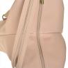 Zgrabny plecak skórzany róż pudrowy lekki