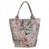 Torba shopper w kwiatki ze skóry naturalnej XL