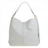 Torebka skórzana damska biała shopper bag