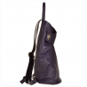 Zgrabny fioletowy plecak skórzany