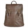 Skórzany plecak brązowy z klapą