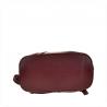Zgrabny plecak skórzany bordowy lekki