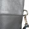 Duża torba skórzana shopper bag szara