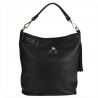 Lekk skórzana torebka shopper bag czarna