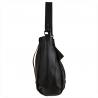 Torebka duża shopper bag czarna z paskiem
