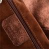 Torba skórza zamszowa naturalna shopper bag brąz z miedzią