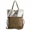 Torba skórza zamszowa naturalna shopper bag taupe
