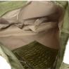 Torebka worek z miękkiej skóry bardzo lekka XL/krokodylek/oliwka