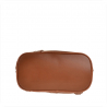 Zgrabny plecak skórzany lekki camel brązowy