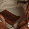 Torba worek z miękkiej skóry bardzo lekka XL brąz koniak /krokodylek/