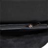 Włoska skórzana czarna torebka listonoszka matowa